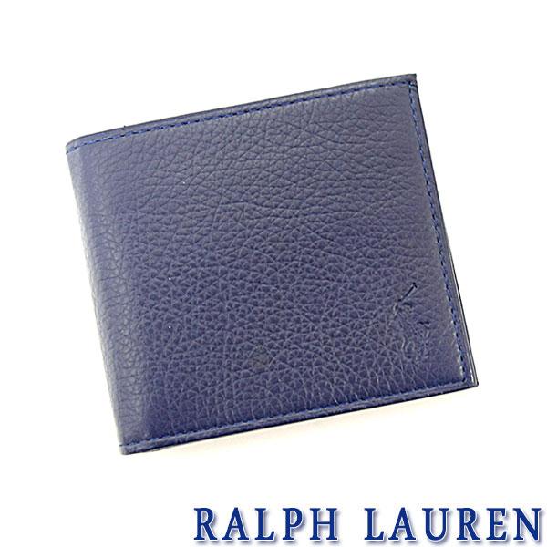 ラルフローレン 財布 ポロ Ralph Lauren ラルフローレン 二つ折り 財布 ネイビー 送料無料 代引き料無料 消費税込