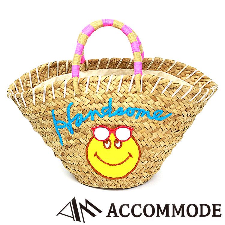 アコモデ Accommode Handsome smile Smiley basket bag ハンサムスマイル スマイリー バスケット かごバッグ 全2色