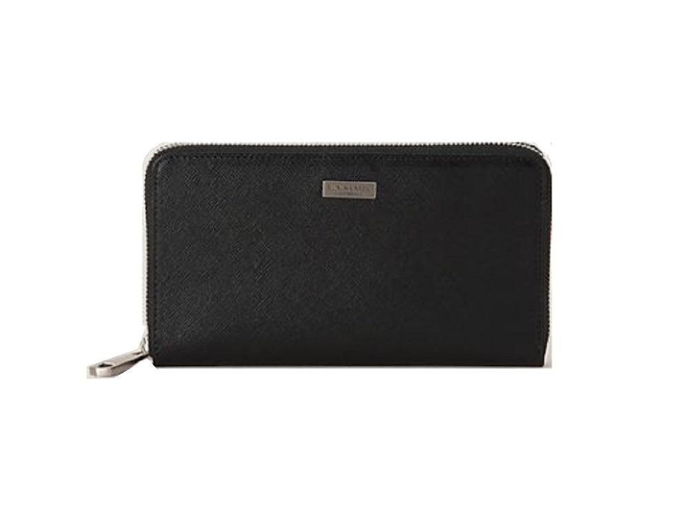 a86e642a8fdf ブラックレーベル BURBERRY BLACK LABEL 長財布 カラーエンボスクレストブリッジチェックロングウォレット ブラック 財布-メンズ財布