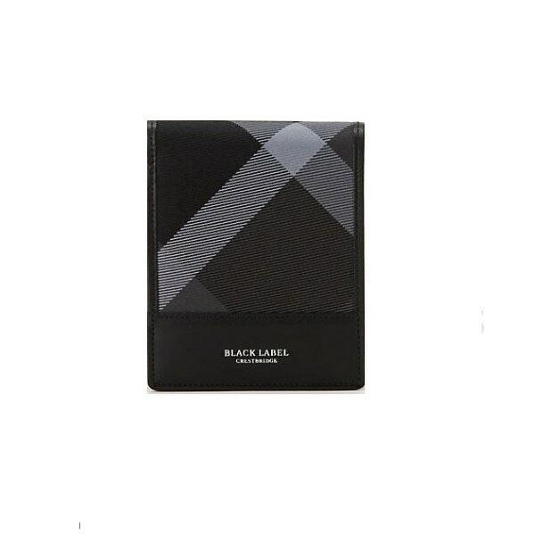 ブラックレーベル クレストブリッチ メンズ トーナルクレストブリッジチェック コインタイプウォレット 二つ折り 財布 長財布 バーバリー ライセンス商品
