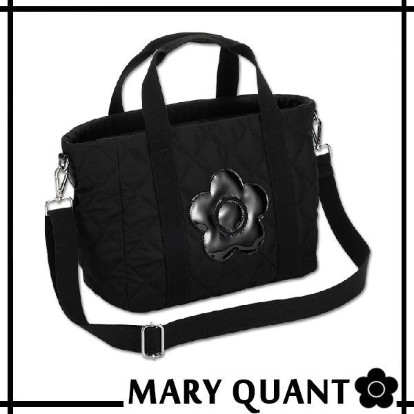 マリークワント MARY QUANT(マリクワ)(マリークアント) バッグ キルティング デイジーパッチ 2WAYトート ブラック 送料無料・代引き料有料 消費税込