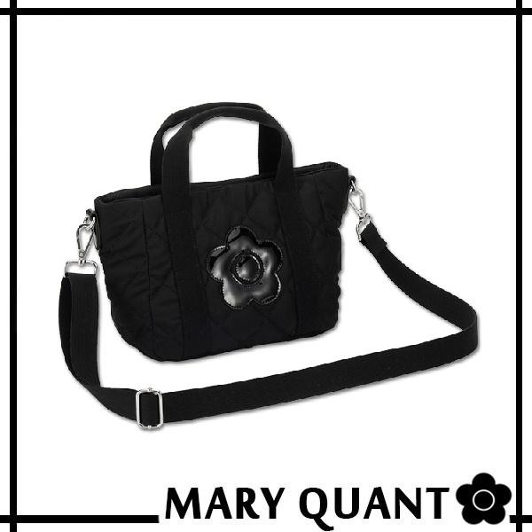 マリークワント MARY QUANT(マリクワ)(マリークアント) バッグ キルティング デイジーパッチ 2WAY ミニトート ブラック 送料無料・代引き料有料 消費税込