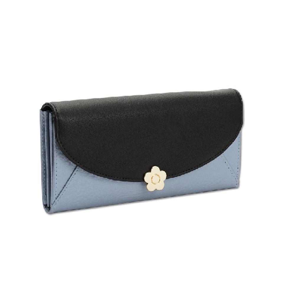 マリークワント MARY QUANT(マリクワ)(マリークアント) 財布 長財布 エピレター パース ブルー