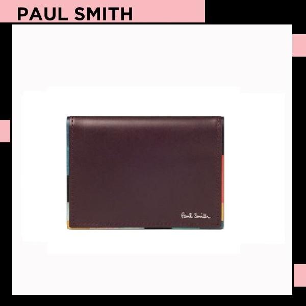 ポールスミス Paul Smith メンズ 財布 長財布 アーティスト ストライプ パスケース 定期入れ バーガンディー 送料無料 代引き料有料 消費税込
