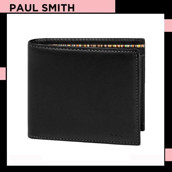 ポールスミス Paul Smith メンズ ンズ 財布 オールドレザー 2つ折り財布 ブラック 送料無料 代引き料有料 消費税込