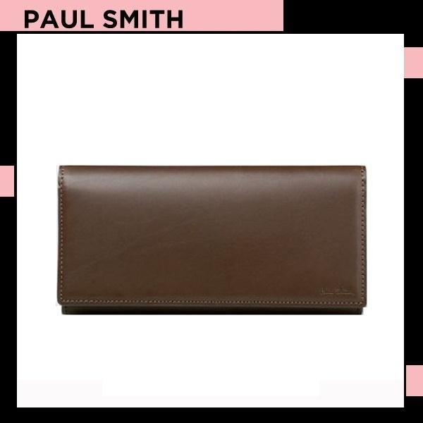 ポールスミス Paul Smith メンズ 財布 オールドレザー かぶせ 長財布 ダークブラウン 送料無料 代引き料有料 消費税込