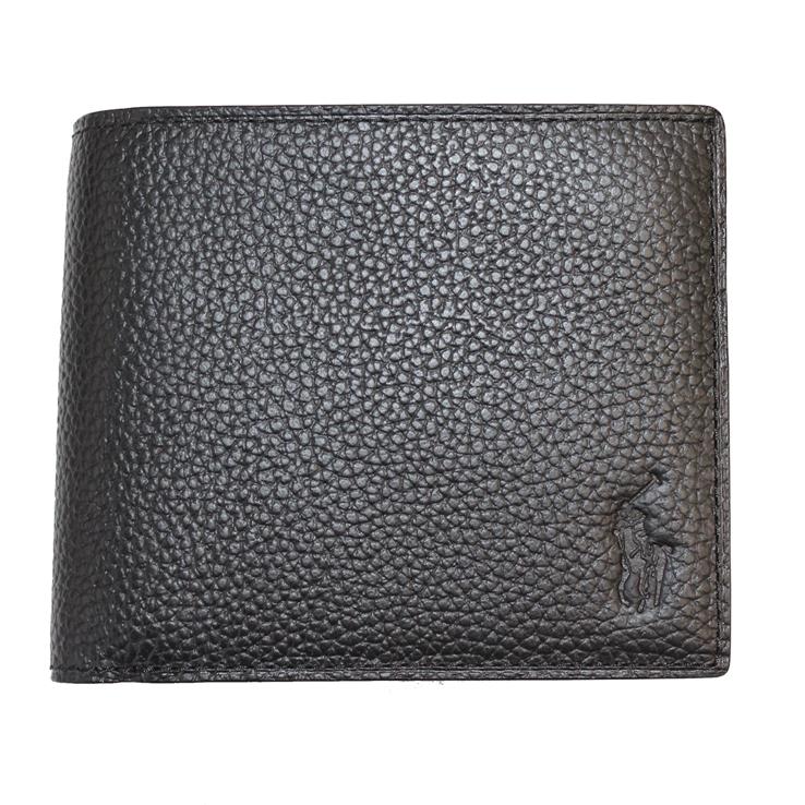 いよいよ人気ブランド POLO RALPH LAUREN ポロ 大好評です ラルフ ラルフローレン P-212SH メンズ財布 ブラック 財布 二つ折り 型番