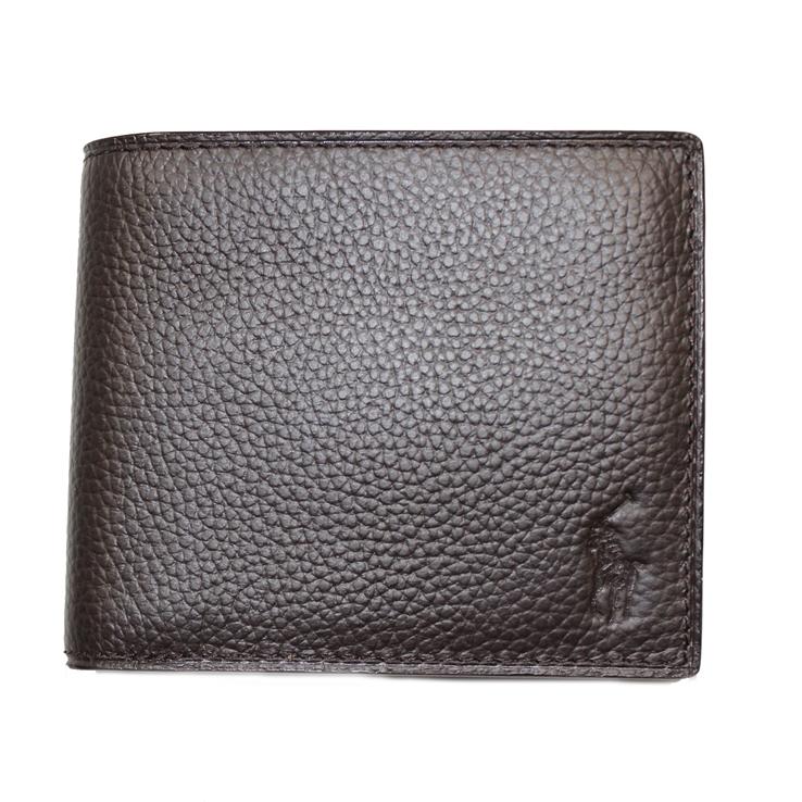 POLO 国内送料無料 RALPH LAUREN ポロ ラルフ ラルフローレン 二つ折り P-212SH メンズ財布 ブラウン 定番スタイル 型番 財布