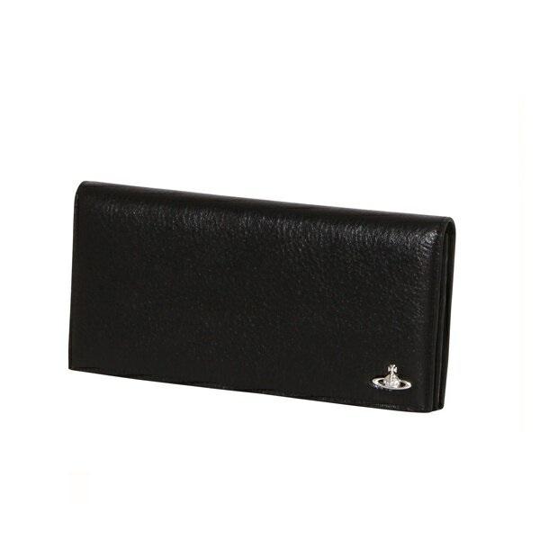 ヴィヴィアンウエストウッド Vivienne Westwood メンズ 財布 ORBスタンダード 長財布 かぶせ ブラック