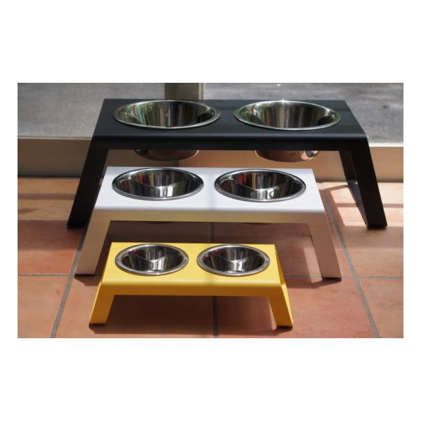 【MiaCara】【ミアカラ】・フードボール 【Desco】犬用食器台 ウォルナット L