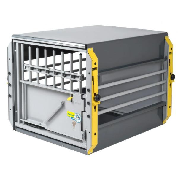 スウェーデン・MIM SAFEの安全性が高いドッグケージMulticage XL グレイ