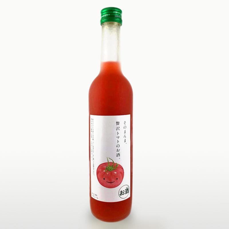 定番スタイル ジューシーで濃厚な味わい 送料込 トマト リキュール 果汁たっぷり 500ml そのまんま贅沢トマトのお酒