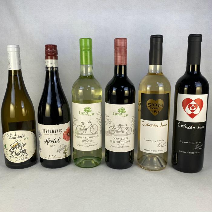 北海道、沖縄、離島は別途送料が発生します ワインセット 自然と身体に優しく造られた ヨーロッパ オーガニック 赤 白 ワイン 飲み比べ 6本セット 送料無料