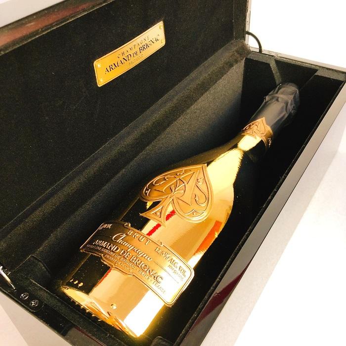 送料無料 シャンパン アルマンド ブリニャック ブリュット ゴールド 750ml 専用 ギフトボックス入り