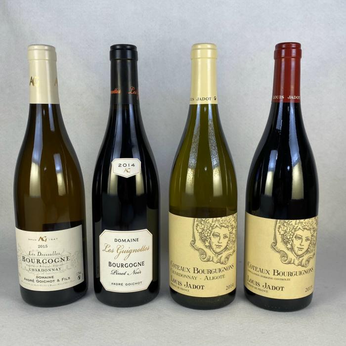 北海道、沖縄、離島は別途送料が発生します ワインセット ブルゴーニュワインを堪能 赤 白ワイン 飲み比べ 4本セット 送料無料