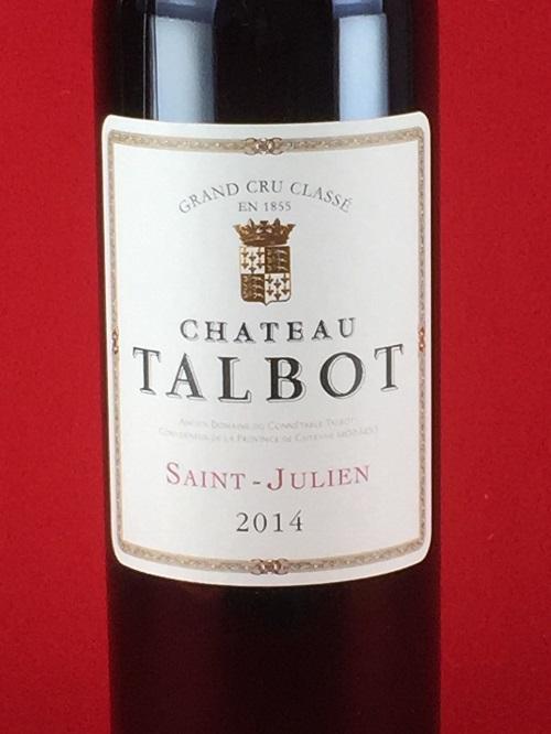 赤ワイン ボルドー シャトー・タルボ 2014 第4級 サン・ジュリアン 750ml