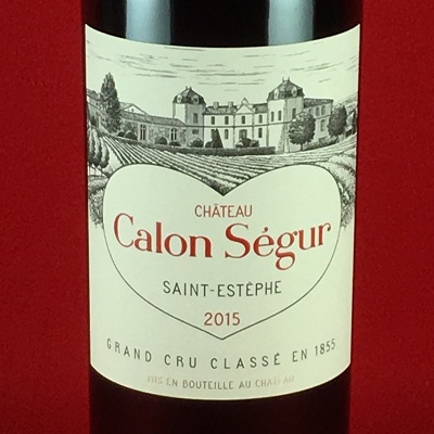 赤ワイン シャトー カロン セギュール 2015 サンテステフ ボルドー メドック3級