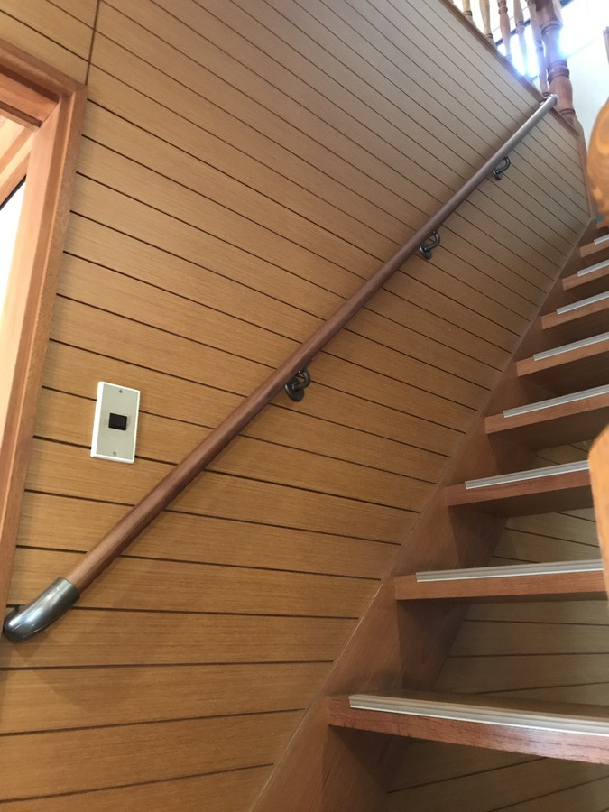 お見舞い 手すり 階段 住宅用 直線階段用35mm手すりセット 手すり棒太さ:35mm, チルドレン通信 5d13cde1