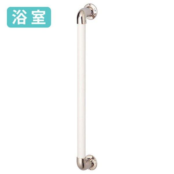 手すり 浴室 マツ六 BAUHAUS 32ステンロストワックス 浴室用I型手すり LW-YI-600 ホワイト