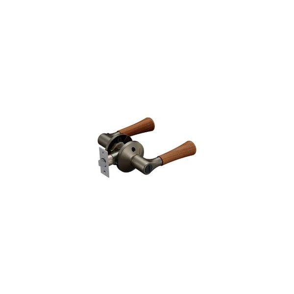 ドアノブ レバーハンドル マツ六 ECLE 兼用取替バリアフリーレバー錠 トイレ錠 木製レバータイプ EL5060-4MW-UMB アンバー/Mブラウン