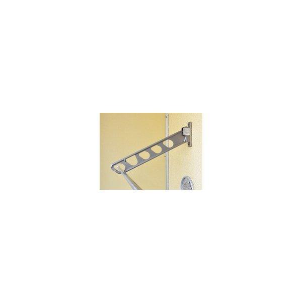 【最大1000円OFFクーポン配布中】物干し 物干しアーム スイング式 マツ六 物干アーム(垂直収納+スイング収納) M-BAST-55N(2本入) ステンカラー 016-5620