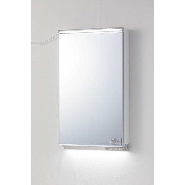 ミラー 一面鏡 照明付 おしゃれ 間口450mm アサヒ衛陶 MML450N 送料無料,人気SALE