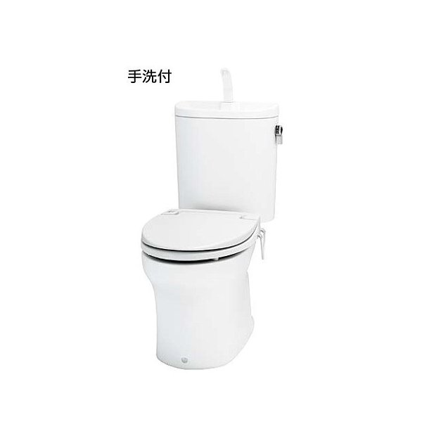 4.8Lの節水トイレです。 トイレ 超節水 床排水 200mm 手洗付 前丸暖房便座タイプ アサヒ衛陶 エディ848 防露仕様ヒーター付