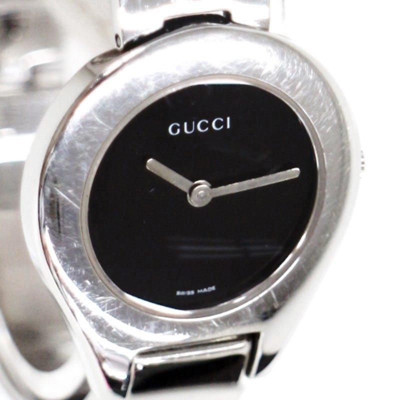 【時計】 GUCCI グッチ 6700L クオーツ レディース 腕時計 黒文字盤 2019.8/1電池交換済 【中古】