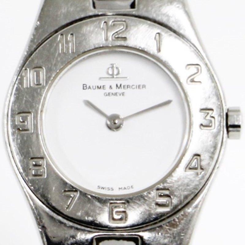 【時計】 Baume & Mercier ボーム&メルシェ MV045204 クオーツ レディース 腕時計 白文字盤  2019.8/1電池交換済 【中古】