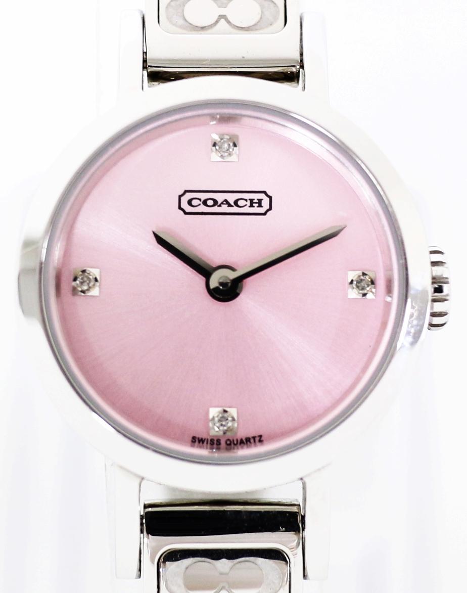 【時計】 COACH コーチ レディース腕時計 9.116.858 クォーツ 2019.5/9 電池交換済み 【中古】