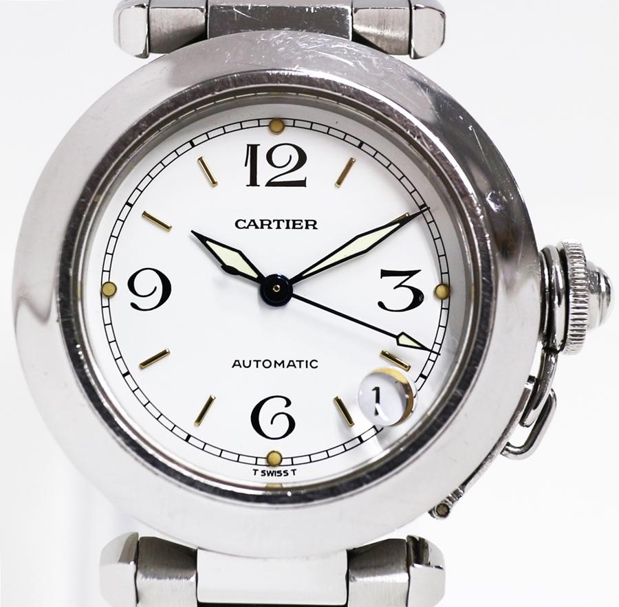 【時計】 Cartier カルティエ パシャC 自動巻き デイト 防水100M 稼働品 【中古】