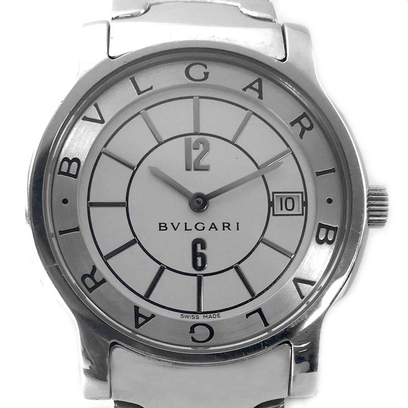 【時計】BVLGARI ブルガリ ST35S ソロテンポ Solotempo メンズ SS 電池交換済【中古】