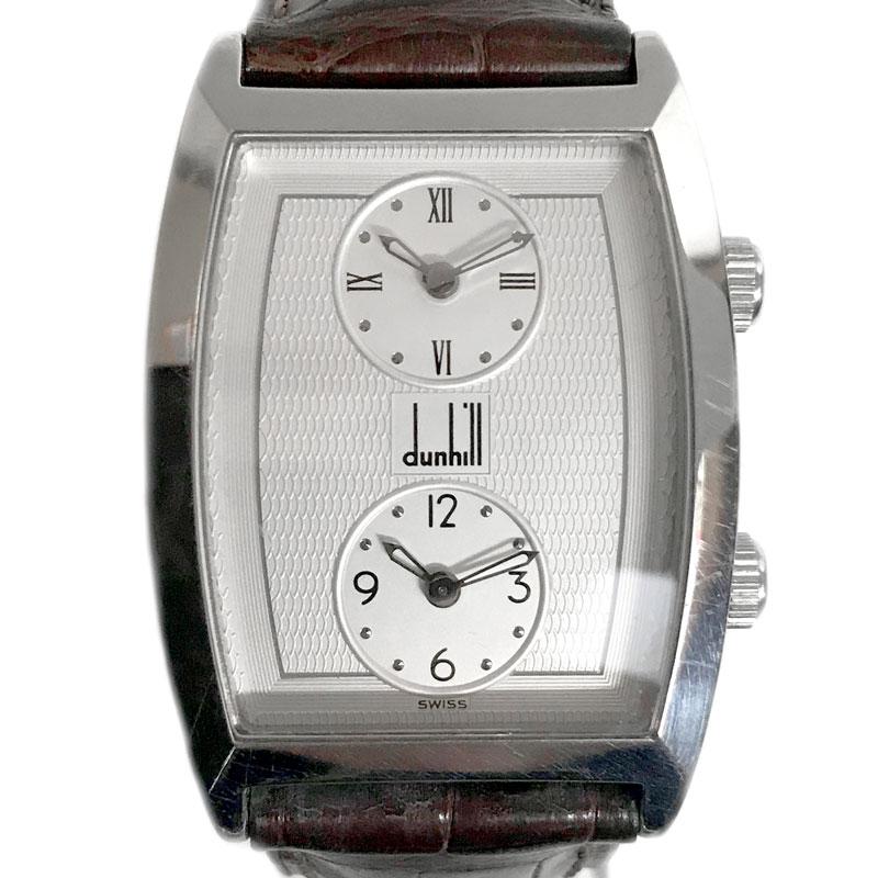 【時計】Dunhill ダンヒル デュアルタイム トノーウォッチ ユニセックス Quartz 電池交換済【中古】