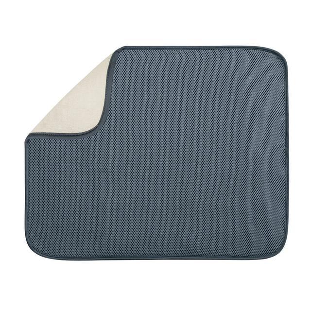 インターデザイン キッチンマット 送料無料 interDesign セットアップ ドライングマット 人気 40132-2ネコポス送付対応品 ピューター ラージ 代金引換不可