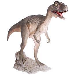 FRP恐竜オブジェ 大型配送 口を大きく開けるアロサウルス 新作 Mouth 上品 Allosaurus Open