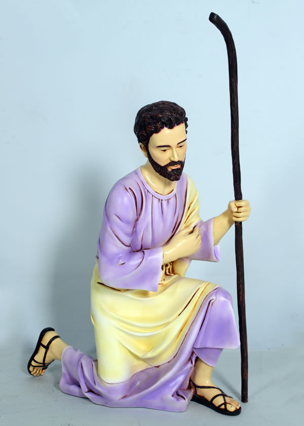 インテリア置物 装飾品キリスト降誕 - ヨセフ(カラー仕上げ) / The Nativity - Joseph fr080083