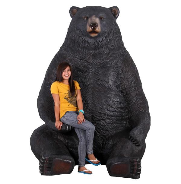 巨大な黒クマ / Sitting Black Bear-Jumbo