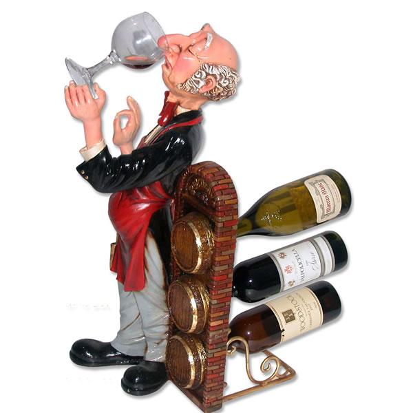ワインラック ホルダー「香りを楽しむソムリエ」