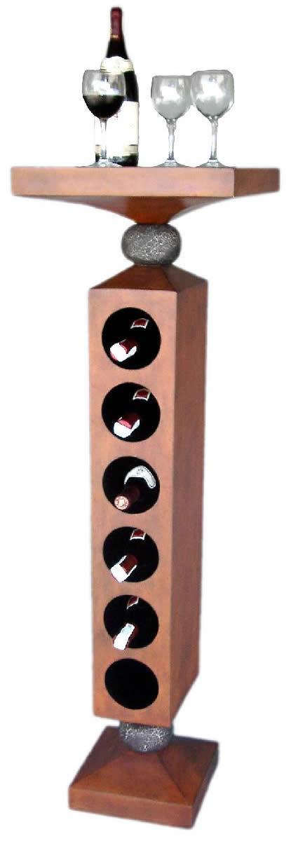 ワインラック ワインホルダー インテリア置物ワインラック ホルダー トラッドなウォールナット仕上げ「ナイス!ワインタワー」在庫限り