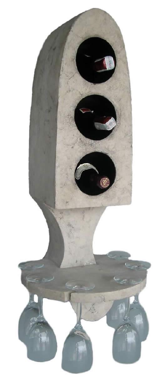 ワインラック ワインホルダー インテリア置物ワインラック ホルダー ローマンストーン仕上げ!「マイ コレクション」fr120502w 【あす楽対応】