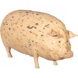 置物動物インテリア動物オブジェ ブタ 斑点模様の豚 / Gloucester Old Spot Pig Big fr020301