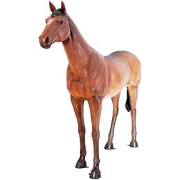 置物動物インテリアウマ置物インテリア 動物強壮と立ち振る舞う馬 / Standing Horse - Life Size