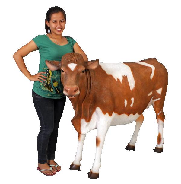置物動物インテリアウシガンジー乳牛 / Guernsey Cow (Not in UK)