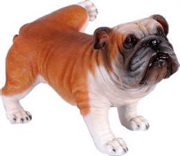 犬置物動物インテリアイヌマーキングするブルドッグ / Peeing Bulldog