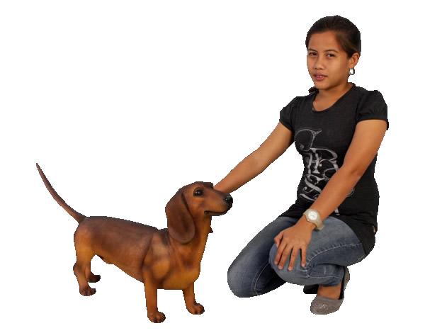 イヌ置物置物動物インテリア犬動物オブジェ ダックスフンド(ブラウン) / Dachshund 【あす楽対応】