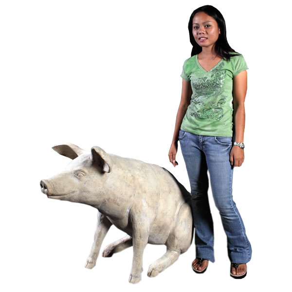 置物動物インテリア動物オブジェ ゆかいな豚さんRS / Large Pig fr020505RS