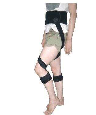 股関節・腰・足の痛みの改善、予防に。ゆがんだ姿勢の補正に バイオメカサポーター股関節(愛知式)股関節矯正ベルト LLサイズ