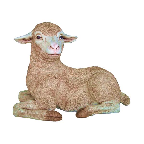 置物動物インテリアひつじ置物インテリア 動物動物オブジェ 子ひつじのくつろぎ / Merino Lamb