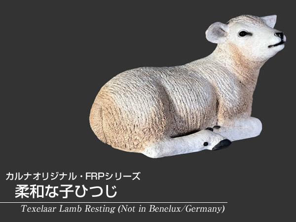 置物ヒツジ置物動物インテリア動物オブジェ 柔和な子ひつじ / Texelaar Lamb Resting