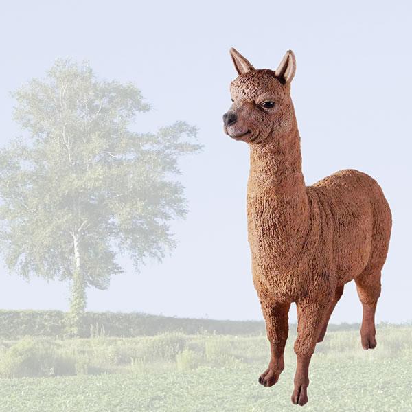 置物動物インテリアアルパカの微笑み / Alpaca fr080074